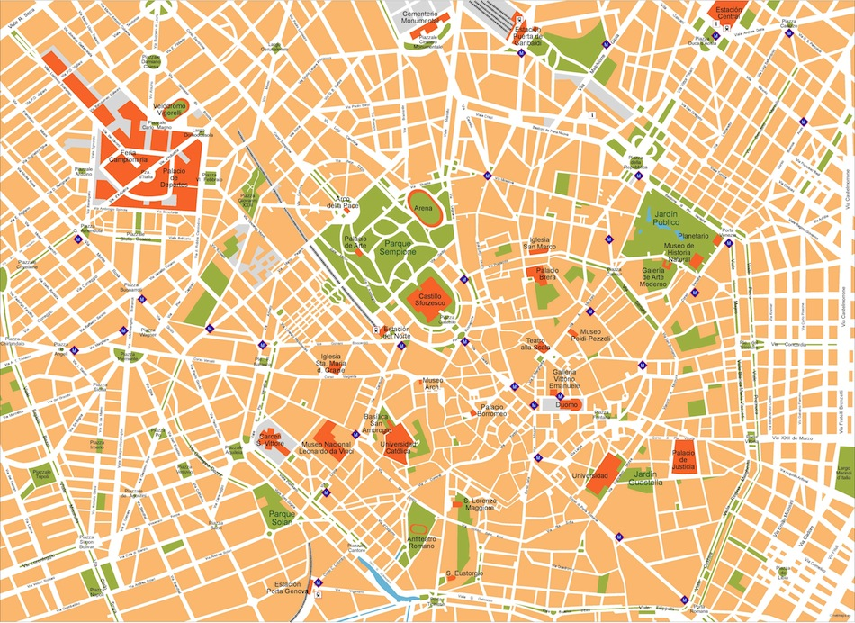 Vector Maps Of Cities Milan – Netmaps. Mapas de España y del mundo