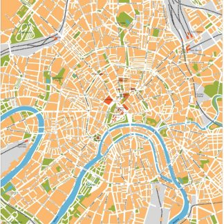 moscow vector map