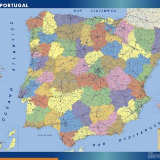 wall map spain