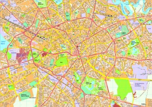 Bucharest map