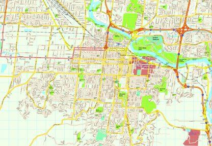 Eugene map