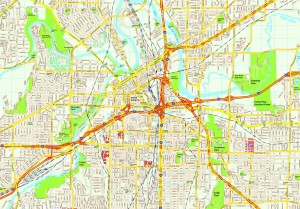 Fort Worth map