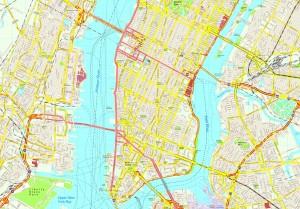 New York map