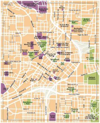 atlanta vector map