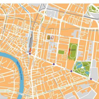 bangkok vector map