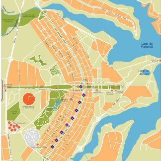 brasilia vector map