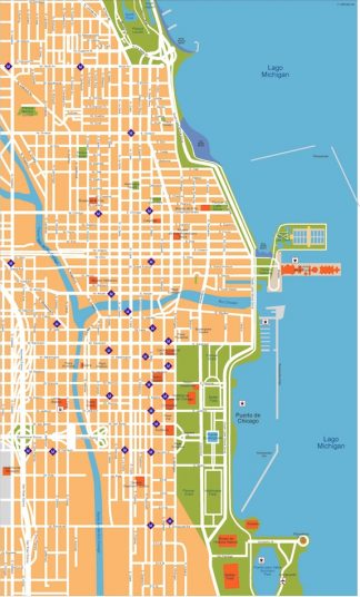 chicago vector map
