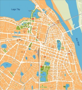 hanoi vector map