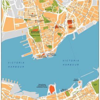 hong kong vector map