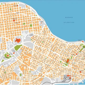 la habana vector map