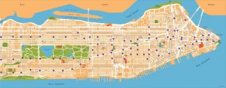 new york vector map