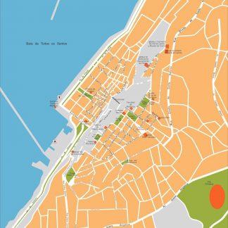 salvador bahia vector map