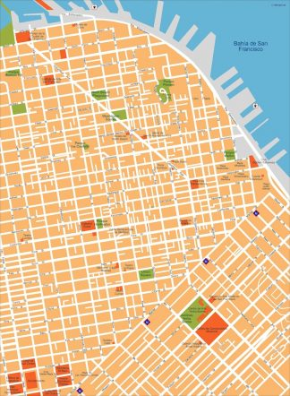 san francisco vector map