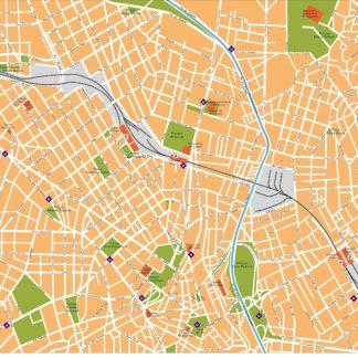 sao paulo vector map