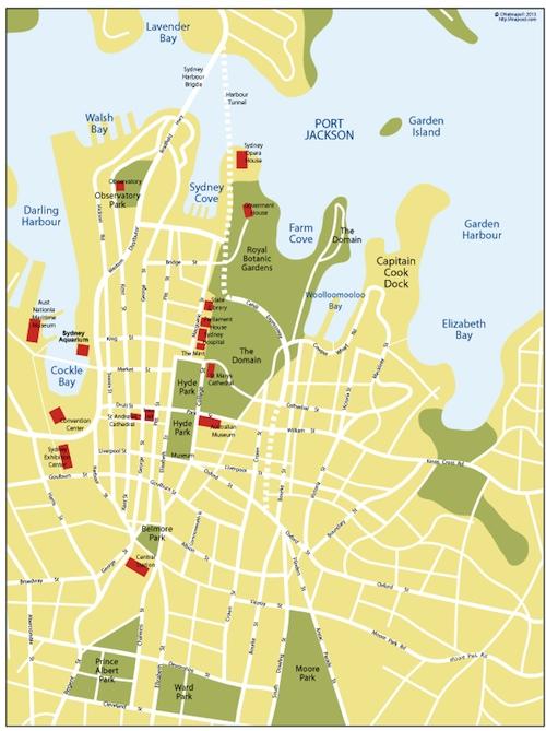 sydney vector map