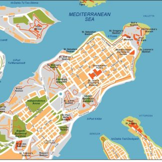valletta vector map