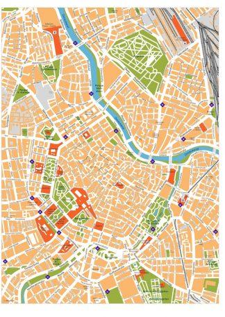 vienna vector map