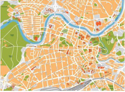 vilnius vector map