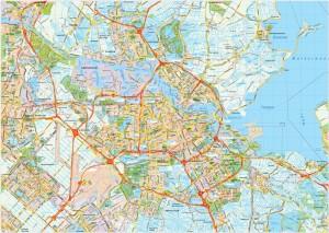 Amsterdam map vector