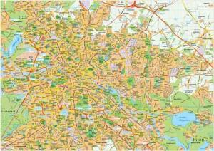 Berlin map vector
