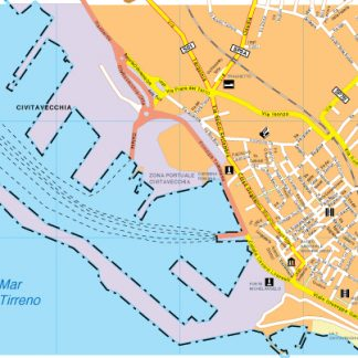 Civitavecchia map