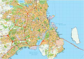 Copenhaguen map vector