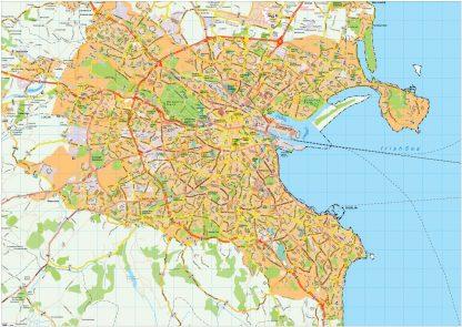 Dublin map vector