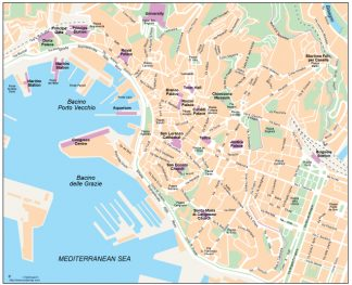 Genoa vector map