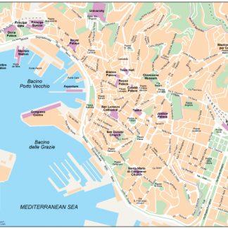 Genoa vector map