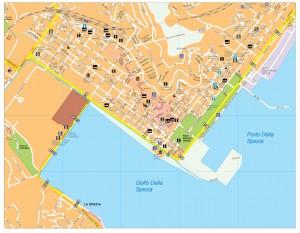 La Spezia map