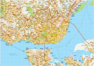 Lisboa map vector