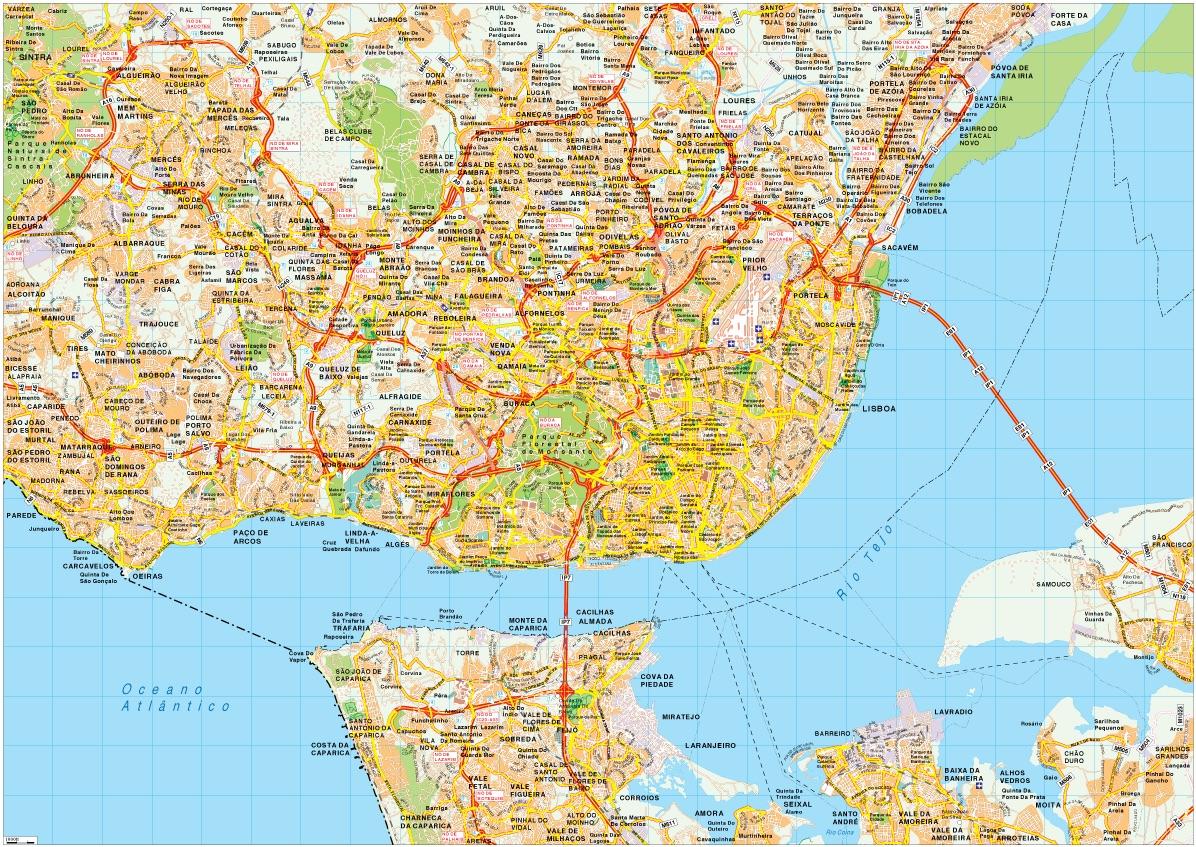 mapa lisboa vector Lisboa map vector – Netmaps. Mapas de España y del mundo mapa lisboa vector