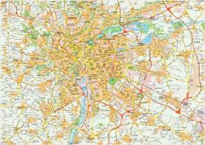 Lyon map vector