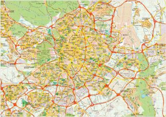 Madrid map vector