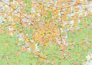 Milano map vector