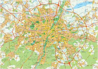 Munchen map vector