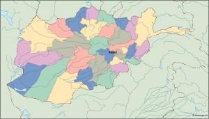 afghanistan vector map