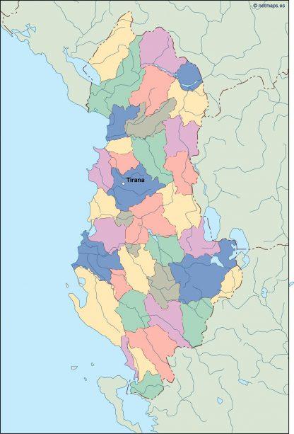 albania vector map