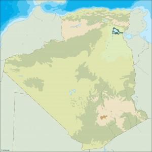 algeria illustrator map
