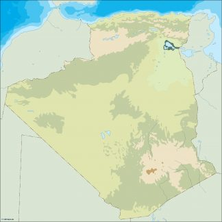 algeria illustrator map