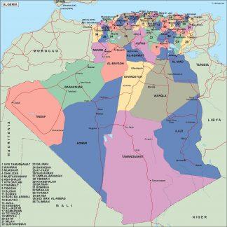 algeria political map