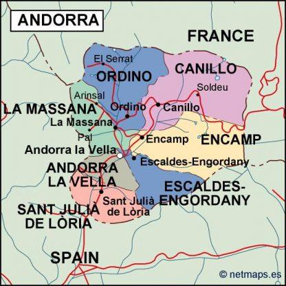 andorra political map