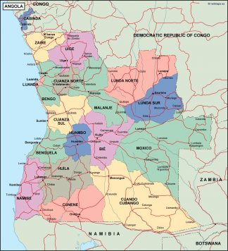 angola political map