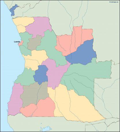 angola vector map