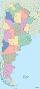 argentina blind map