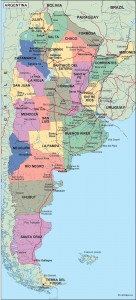 argentina political map