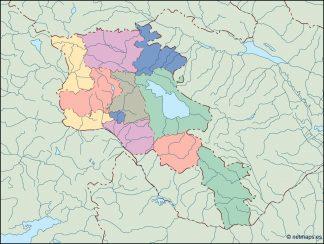 armenia blind map