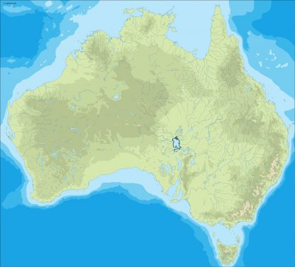 australia illustrator map