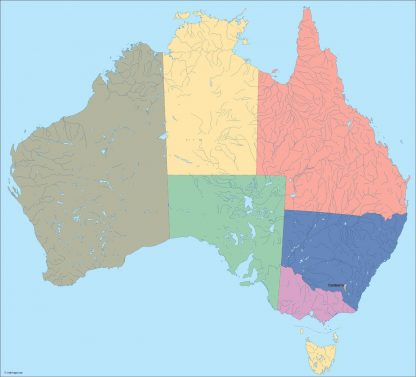 australia vector map