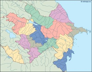 azerbaijan blind map